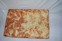Pizza margherita e prosciutto