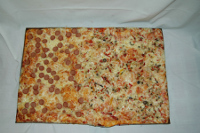Pizza verdure e wurstel